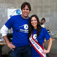 Mark emceed event which recognized Mrs. NY/America, Leah Bartos